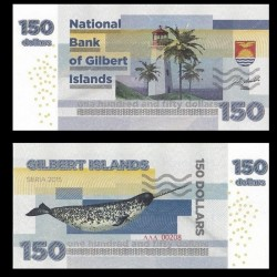 GILBERT ISLANDS / KIRIBATI- Billet de 150 Dollars - Narval - 2015