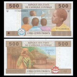 CAMEROUN - Billet de 500 Francs - 2002 / 2017 P206Ue