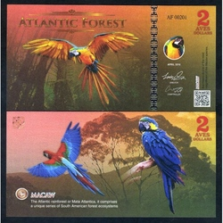 ATLANTIC FOREST - Billet de 2 Aves - Ara - 2016