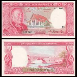 LAOS - Billet de 500 Kip - Roi Savang Vatthana - 1974 P17a