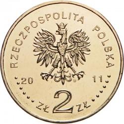 POLOGNE - PIECE de 2 ZLOTE - Jeremi Przybora, Jerzy Wasowski - 2011