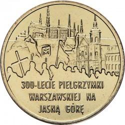 POLOGNE - PIECE de 2 ZLOTE - Pélerinage de Varsovie à Jasna Gora - 2011