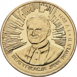 POLOGNE - PIECE de 2 ZLOTE - Béatification de Jean Paul II - 2011 Y#772