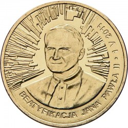 POLOGNE - PIECE de 2 ZLOTE - Béatification de Jean Paul II - 2011