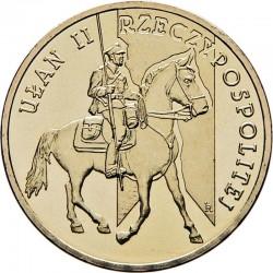 POLOGNE - PIECE de 2 ZLOTE - Histoire de la Cavalerie Polonaise : Lancier - 2011
