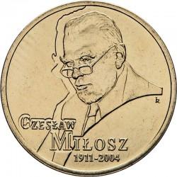 POLOGNE - PIECE de 2 ZLOTE - Czeslaw Milosz - 2011