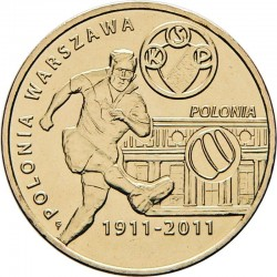 POLOGNE - PIECE de 2 ZLOTE - Club de football de Varsovie - 2011 Y#799