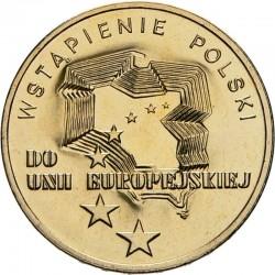 POLOGNE - PIECE de 2 ZLOTE - Accession à l'Union Européenne - 2004