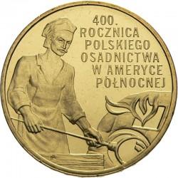 POLOGNE - PIECE de 2 ZLOTE - Colonisation polonaise de l'Amérique du Nord - 2008