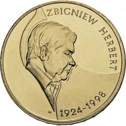 POLOGNE - PIECE de 2 ZLOTE - Zbigniew Herbert - 2008