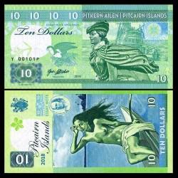 PITCAIRN - Billet de 10 Dollars - Bateau Bounty - Vahiné - 2018
