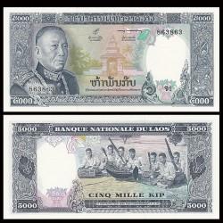 LAOS - Billet de 5000 Kip - Roi Savang Vatthana - 1975