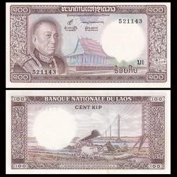 LAOS - Billet de 100 Kip - Roi Savang Vatthana - 1974