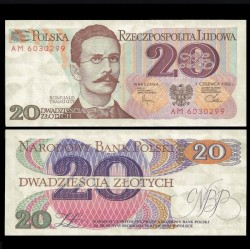 POLOGNE - Billet de 20 Złotych - Romuald Traugutt - 01.06.1982