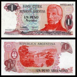 ARGENTINE - Billet de 1 Peso Argentino - 1983 / 1984 P311a2