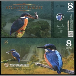 ATLANTIC FOREST - Billet de 8 Aves - Martin-pécheur - 2015