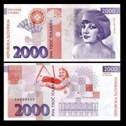SLOVENIE - Billet de 2000 Tolarjev - Ita Rina - 2016