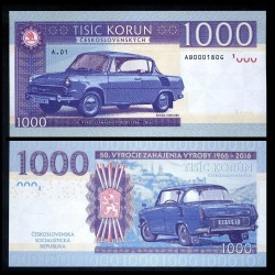 TCHECOSLOVAQUIE - Billet de 1000 Korun - Skoda 1000 MBX - 2016 1000 MBX - Gabris - Série A.01