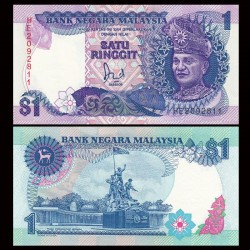 MALAISIE - Billet de 1 Ringgit - Monument national - 1989