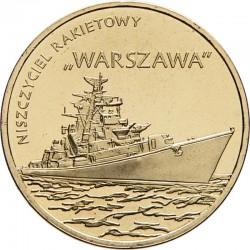 POLOGNE - PIECE de 2 ZLOTE - Destroyer ORP Warszawa - 2013