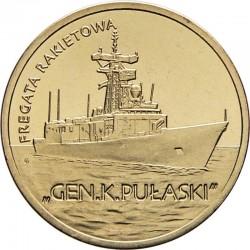 POLOGNE - PIECE de 2 ZLOTE - Destroyer ORP Pułaski - 2013