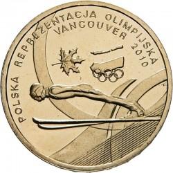 POLOGNE - PIECE de 2 ZLOTE - Jeux Olympiques de Vancouver - 2010 Y#715