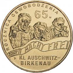 POLOGNE - PIECE de 2 ZLOTE - Auschwitz-Birkenau - 2010