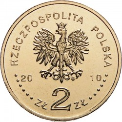 POLOGNE - PIECE de 2 ZLOTE - Massacre de Katyn - 2010