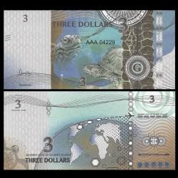 GILBERT ISLANDS / KIRIBATI- Billet de 3 Dollars - Série Tortue: Pseudemys - 2016