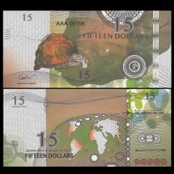 GILBERT ISLANDS / KIRIBATI- Billet de 15 Dollars - Série Tortue: Tortue étoilée d'Inde - 2016