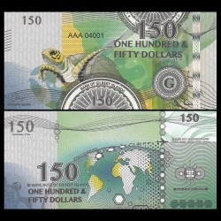 GILBERT ISLANDS / KIRIBATI- Billet de 150 Dollars - Série Tortue: Tortue verte - 2016