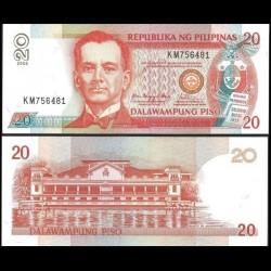 PHILIPPINES - Billet de 20 Piso - Manuel Quezon - 2008 P182j