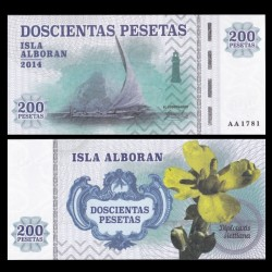 ISLA ALBORAN - Billet de 200 Pesetas - Série Bateaux - 2014 0200