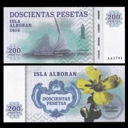 ISLA ALBORAN - Billet de 200 Pesetas - Série Bateaux - 2014