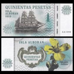 ISLA ALBORAN - Billet de 500 Pesetas - Série Bateaux - 2014