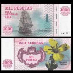 ISLA ALBORAN - Billet de 1000 Pesetas - Série Bateaux - 2014 1000