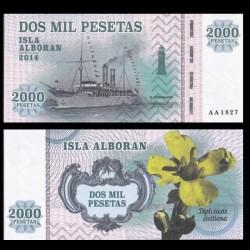 ISLA ALBORAN - Billet de 2000 Pesetas - Série Bateaux - 2014