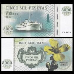 ISLA ALBORAN - Billet de 5000 Pesetas - Série Bateaux - 2014