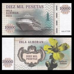ISLA ALBORAN - Billet de 10000 Pesetas - Série Bateaux - 2014