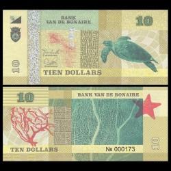 BONAIRE - Billet de 10 Dollars - Tortue - 2015
