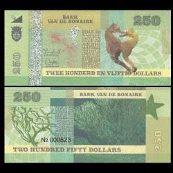 BONAIRE - Billet de 250 Dollars - Hippocampes - 2015