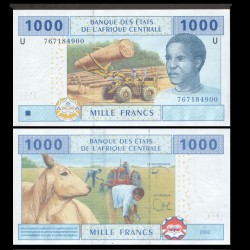 AFRIQUE CENTRALE - Cameroun - Billet de 1000 Francs - 2002 / 2017