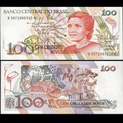 BRESIL - Billet de 100 Cruzados Novos - 1989 P220a