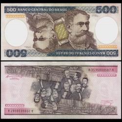 BRESIL - Billet de 500 Cruzeiros - 1981 / 1985