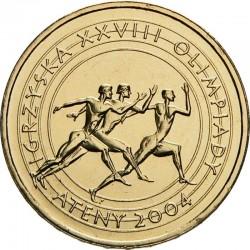 POLOGNE - PIECE de 2 ZLOTE - Jeux Olympiques d'Athènes - 2004 Y#516