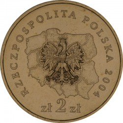 POLOGNE - PIECE de 2 ZLOTE - Voïvodie de Lubusz - 2004