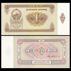 MONGOLIE - Billet de 1 Tögrög - 1983