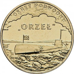 "POLOGNE - PIECE de 2 ZLOTE - Sous-marin ""Orżeł"" - 2012"