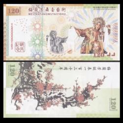 CHINE - Billet de 120 Yuan - Mei Lanfang - 2014