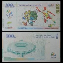 CHINE - Billet de 100 Yuan - Jeux Olympiques de Rio - Mascottes - 2016